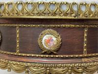 Decorative French Louis Revival Style Marble Top Side Table with Romantic Sèvres Plaques (16 of 38)