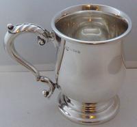1937 Hallmarked Solid Silver 1/2 Half Pint Tankard Christening Mug
