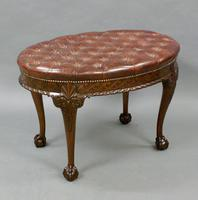 A Large Carved Mahogany Oval Stool (4 of 6)