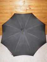 Vintage Hallmarked Silver 1930 Walking Length Umbrella by Brigg, London (SWAINE ADENEY) (12 of 14)