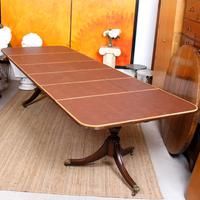 Dining Table & 8 Chairs Mahogany 3.2 Metres Long Hepplewhite Stalker (13 of 16)