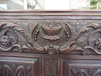 Country Oak Carved Settle Depicting Phoenix 1750 (12 of 13)