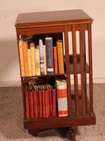 English Revolving Bookcase in Mahogany & Inlays (4 of 10)