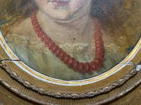 Fine Original 19th Century Circular Oil Portrait Painting of a Child for Reframing/tlc (7 of 11)