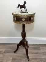 Decorative French Louis Revival Style Marble Top Side Table with Romantic Sèvres Plaques (26 of 38)
