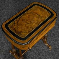 Victorian Walnut Games / Sewing Table (6 of 8)