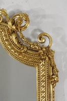 19th Century Gilt Overmantle Mirror with Putto Cresting (7 of 12)
