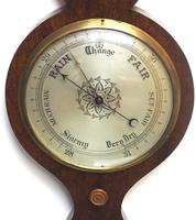 Good Mahogany 5 Glass Barometer Thermometer with Onion Top (5 of 10)