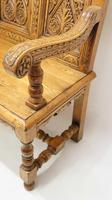Good Quality  Reproduction  Carved Oak Settle or Hall Seat (11 of 17)