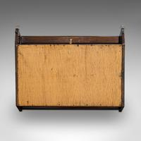 Antique Display Cabinet, English, Oak, Humidor, Collectibles Case, Edwardian (9 of 9)