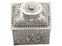 Sterling Silver Tea Caddy - George V 1925 (14 of 15)