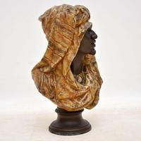 Antique Bronzed Spelter Bust of a Moorish Man (3 of 10)