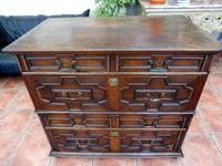 Country oak 4 drawer chest of drawers splits into 2 (5 of 10)