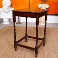 Oak Writing Table Arts & Crafts Side Table Edwardian Slim Petite (2 of 6)