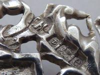 Rare Edwardian Shakespeare 1904 Hallmarked Solid Silver Nurses Belt Buckle (8 of 10)