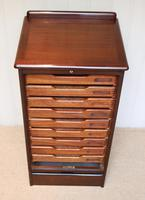 Mahogany Tambour Front Filing Cabinet (8 of 10)