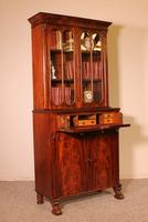 Small English Bookcase With Secretaire From The 19th Century In Mahogany (4 of 11)