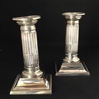 Pair of Silver Plated Corinthian Column Candlesticks (4 of 5)
