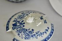 8th Century Dr Wall Worcester Blue Butter Tub, Cover & Stand c.1770 (8 of 8)