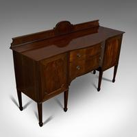 Antique Bow Front Sideboard, English, Mahogany, Dresser, Cabinet, Victorian (5 of 12)