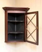 Mahogany Corner Wall Cabinet (8 of 9)