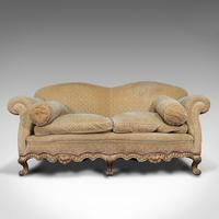 Antique 2 Seat Sofa, French, Textile, Beech, Settee, C.1900 (2 of 12)