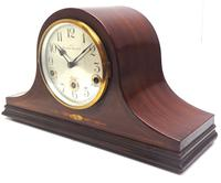 Mahogany Hat Shaped English Westminster 8-day Mantel Clock with Silver Dial (7 of 12)