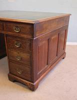 Antique Oak Partners Writing Desk (9 of 10)