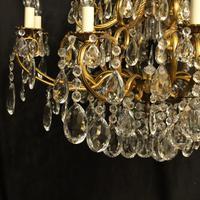Italian Gilt & Crystal 21 Light Antique Chandelier (10 of 10)