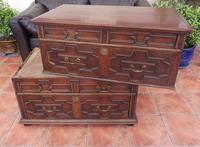 Country Oak 4 Drawer Chest of Drawers splits into 2 c.1670 (9 of 10)