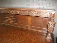 Large Three Drawer Carved Oak Sideboard (2 of 3)
