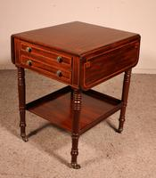 Pembroke Table In Mahogany & Inlay 19th Century - England (11 of 16)