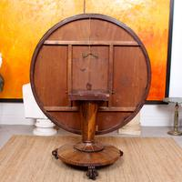 William IV Rosewood Breakfast Table Tilt Top Dining Console (6 of 11)