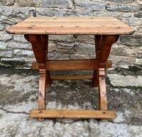 Antique Swedish Pine X-frame Trestle Table (3 of 21)