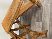 Victorian Style Light Oak Library Spiral Curved Step Ladder Stand (21 of 24)