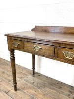 19th Century Antique Oak Side Table (5 of 10)