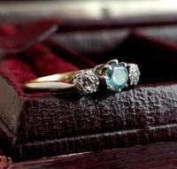 Vintage Art Deco Zircon and diamond ring, 18ct gold and platinum (12 of 12)