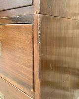 Antique Military Campaign Teak Chest of Drawers (11 of 21)