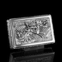 Rare Antique Georgian Solid Silver Mazeppa Snuff Box - Edward Smith 1836 (14 of 23)