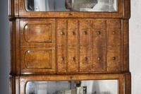 19th Century Victorian Inverted Breakfront Burr Walnut Wardrobe (6 of 10)