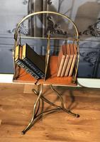 Victorian Brass & Oak Revolving Bookcase (4 of 9)