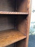 Antique Oak Open Bookcase (2 of 7)