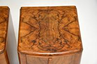 Pair of Art Deco Figured  Walnut Bedside Cabinets (5 of 10)