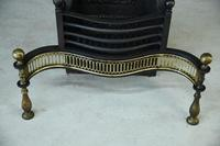 Antique Brass & Cast Iron Fire Basket (10 of 10)