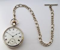 Vintage Silver Waltham Pocket Watch & Chain (2 of 4)