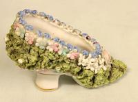 Antique Porcelain Pair of Shoes (4 of 5)
