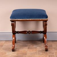 Good Quality 19th Century X-framed Rosewood Stool (2 of 10)