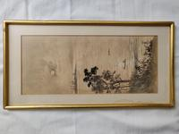Three Japanese original ink/ watercolour lanscape paintings circa mid. 20th Century (14 of 20)