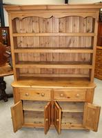 1920's Country Pine Dresser with Display Rack (2 of 5)
