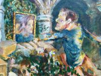 Original oil on canvas 'A reflection of life' by Basil Jonzen. Provenance. Purchased from Karin Jonzen by me in the mid 1980's. Signed and dated 67 (2 of 2)